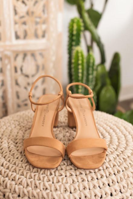 Chinese Laundry Yummy Heeled Sandals - Nude