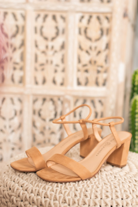 Chinese Laundry Yummy Heeled Sandals - Nude