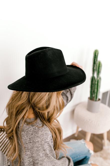 Astoria Wide Brim Hat - Black