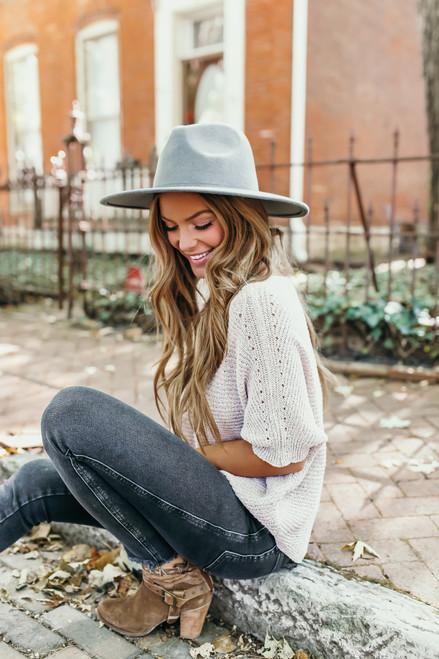 Astoria Wide Brim Hat - Grey