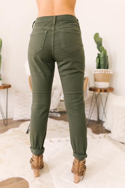 West End Skinny Jeans - Olive