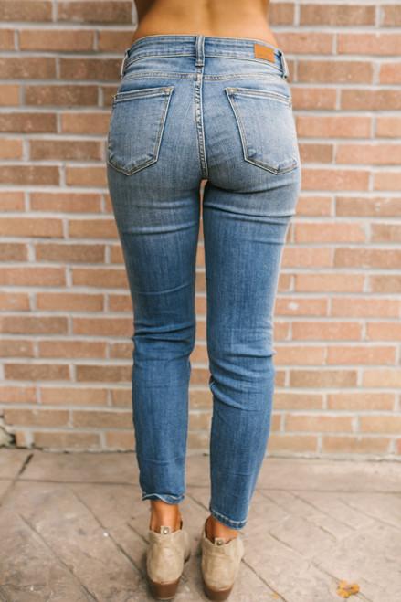 Suite Life Faded Skinny Jeans - Medium Wash