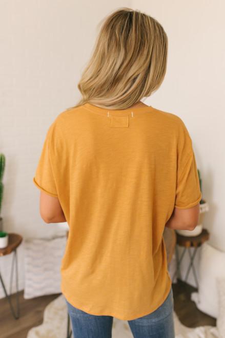 Free People Woodstock Clarity Ringer Tee - Orange