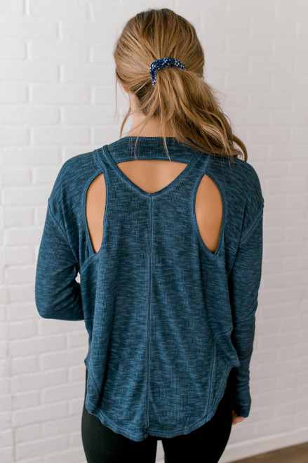 Free People Lay Up Tee - Navy - FINAL SALE