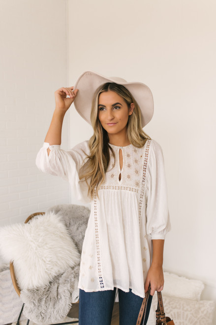 Free People Charlotte Tunic - Ivory - FINAL SALE