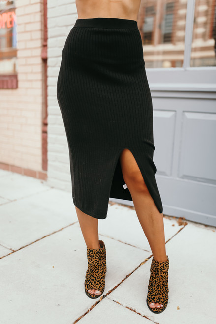 Free People Skyline Midi Skirt - Black