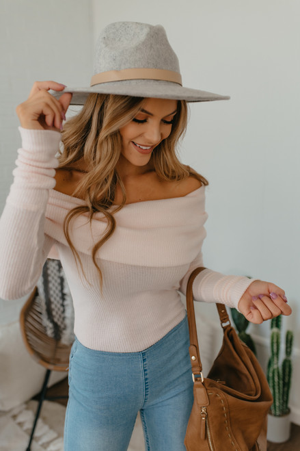 Free People Snowbunny Top - Shell Pink