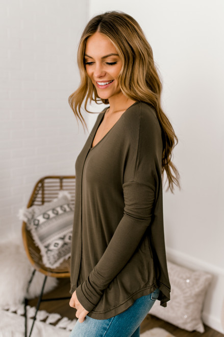 Free People Moonshine Tunic - Army