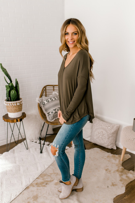 Free People Moonshine Tunic - Army - FINAL SALE