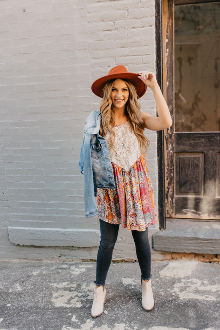 Free People Count Me In Trapeze Tunic - Pink - FINAL SALE