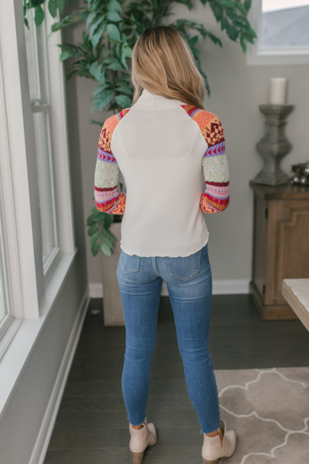 Free People Prism Swit Top - Ivory Combo