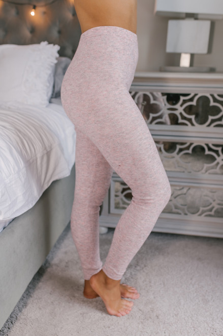 Free People Think Thermal Leggings - Pink