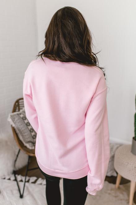 Cuddle Weather Sweatshirt - Pink/Black