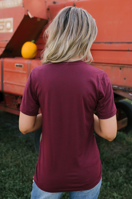 You Had Me at Pumpkin Spice Tee - Wine - FINAL SALE