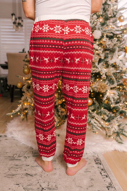 Men's Christmas Joggers - Red