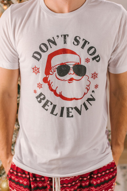 Don't Stop Believin' Unisex Tee - White
