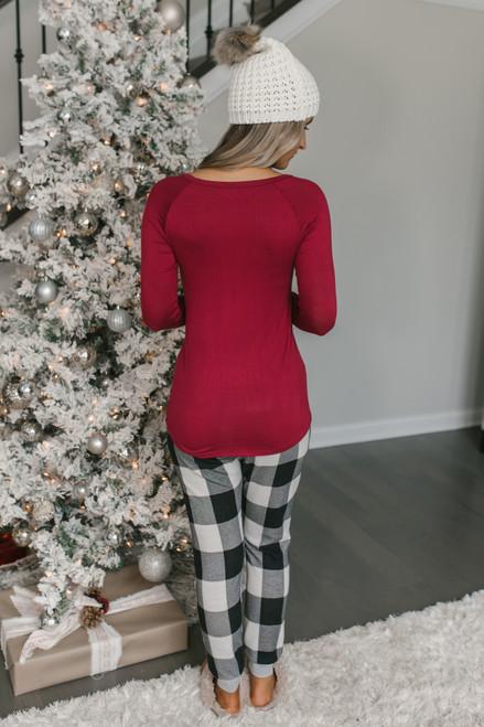 Merry Christmas Ya Filthy Animal Top - Burgundy