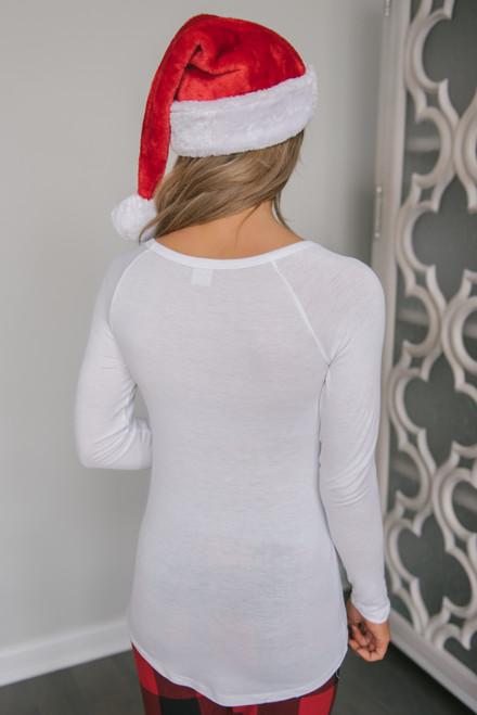 Merry Christmas Ya Filthy Animal Top - White