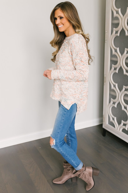 Confetti Chenille Sweater - Cream Multi