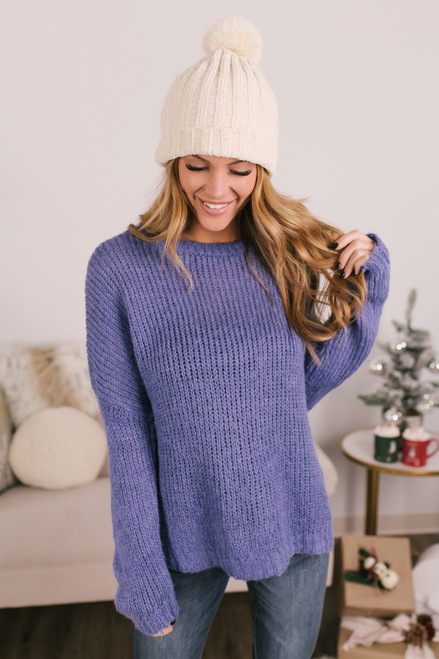Winter Adventure Sweater - Periwinkle