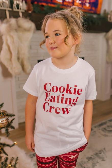 Kid's Cookie Eating Crew Tee - White