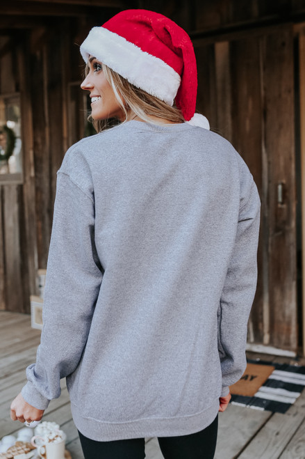 Believe Glitter Sweatshirt - Heather Grey