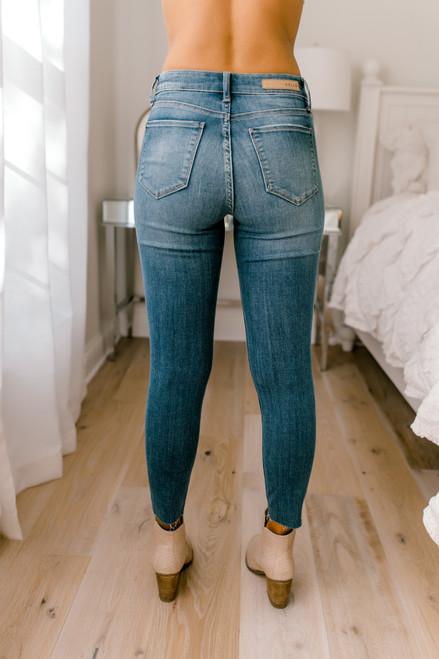Winning Streak Distressed Skinny Jeans - Medium Wash