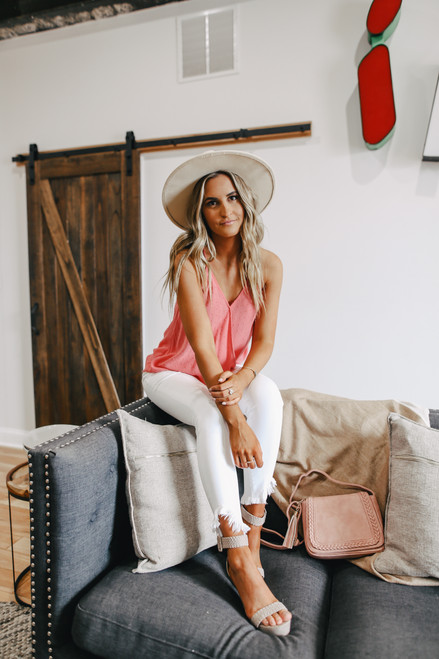 Surplice Dotted Coral Tank