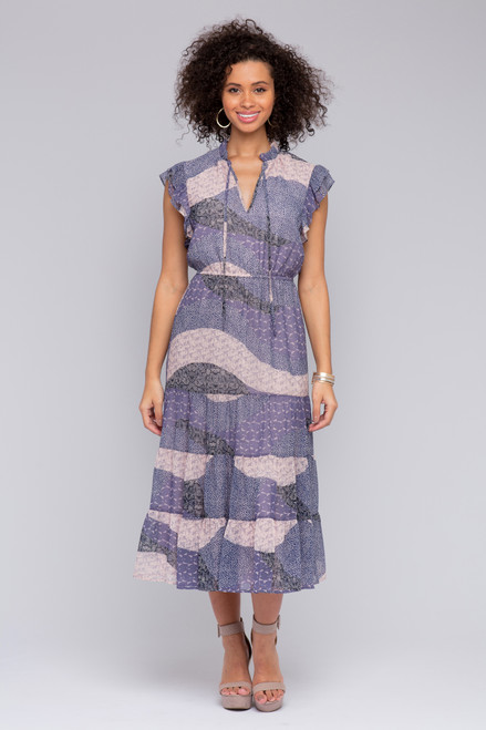BB Dakota All Mixed Up Midi Dress