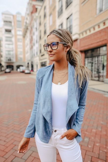 BB Dakota Suede It Out Blue Jacket
