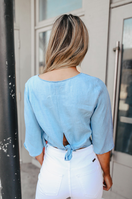 Jack by BB Dakota Chambray the Light Blouse