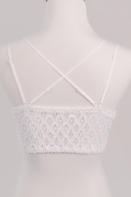 Goddess Scalloped Lace Bralette - White