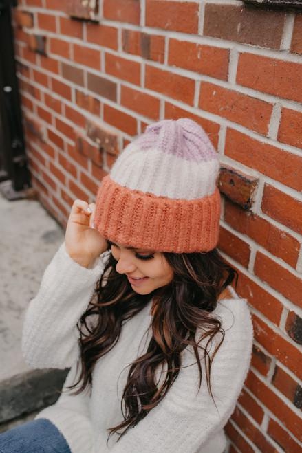 Colorblock Knit Beanie - Multi