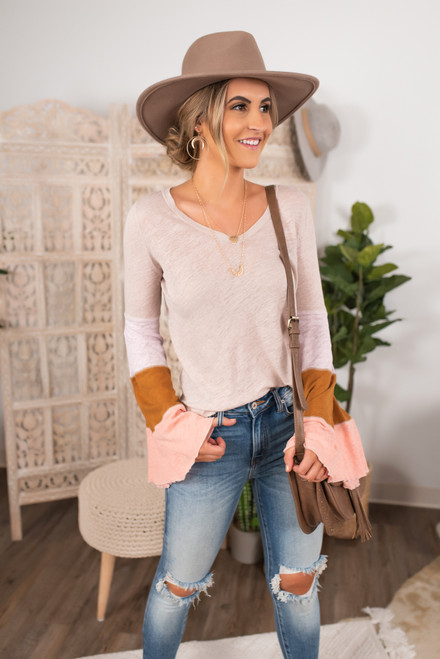 Free People Spread Your Wings Tee - Nude