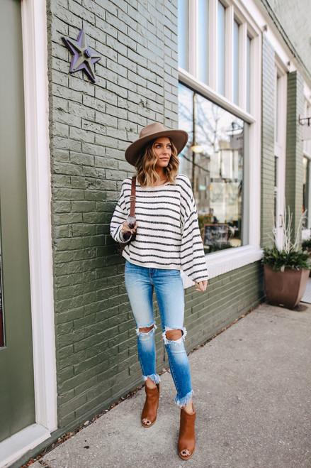 Free People Bardot Dice Combo Sweater