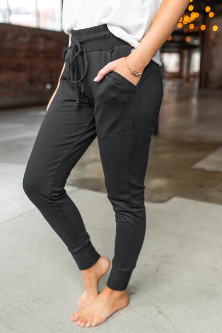 Free People Sunny Skinny Black Sweatpants
