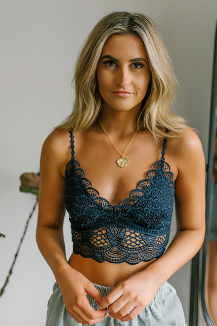 Free People Sunrise to Sunset Black Bra
