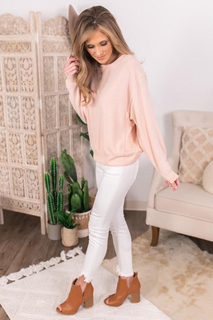 Vintage Havana Brushed Pink Pullover