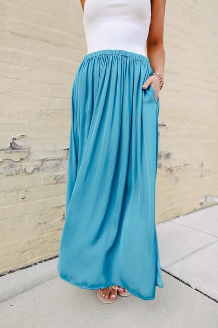 Annabelle Teal A-Line Skirt
