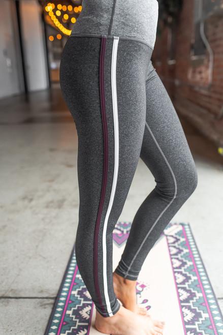 Varsity Stripe Grey Leggings