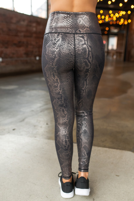 Shimmer Snake Print Leggings