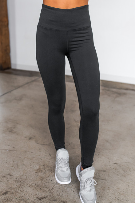 Criss Cross Mesh Detail Black Leggings