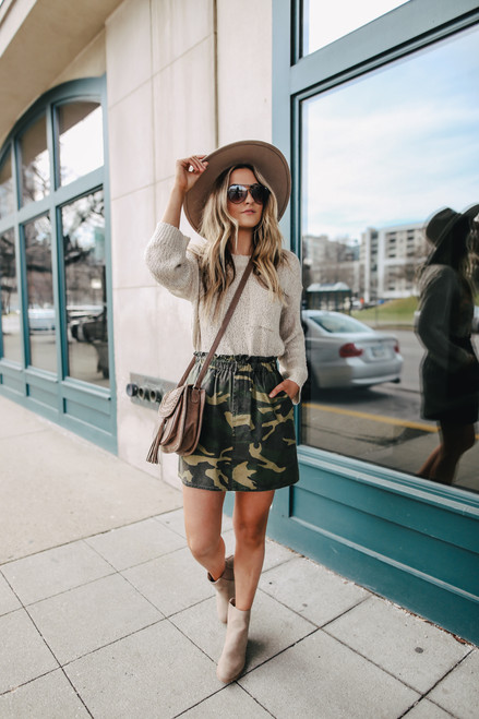 Sadie & Sage Catch Me Camo Skirt