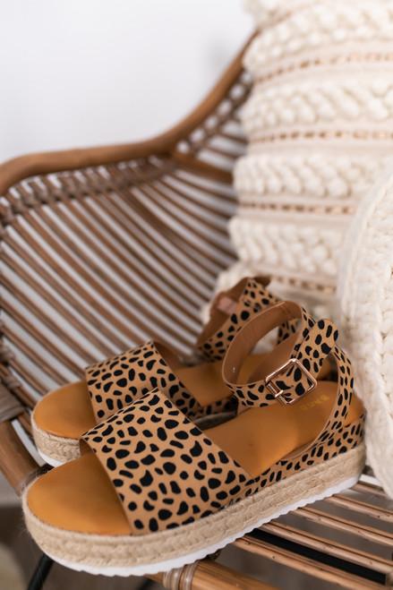 Hampton Bay Cheetah Espadrille Platform Sandals