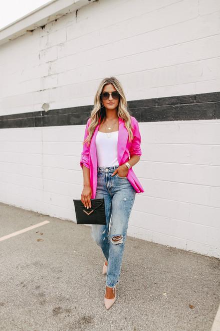 Headliner Roll Tab Hot Pink Blazer