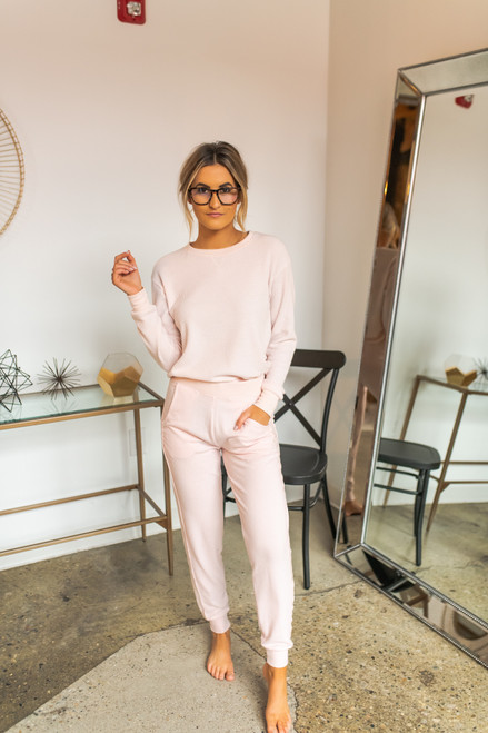 Brushed Thermal Pullover - Pink