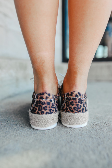 Maria Leopard Espadrille Sneakers