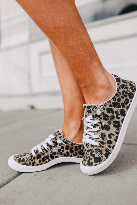 Rori Leopard Canvas Sneakers