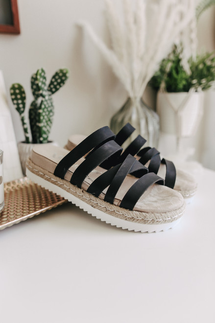 svart strappy espadrille sandaler best