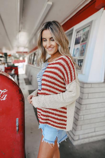 American Flag Sweater